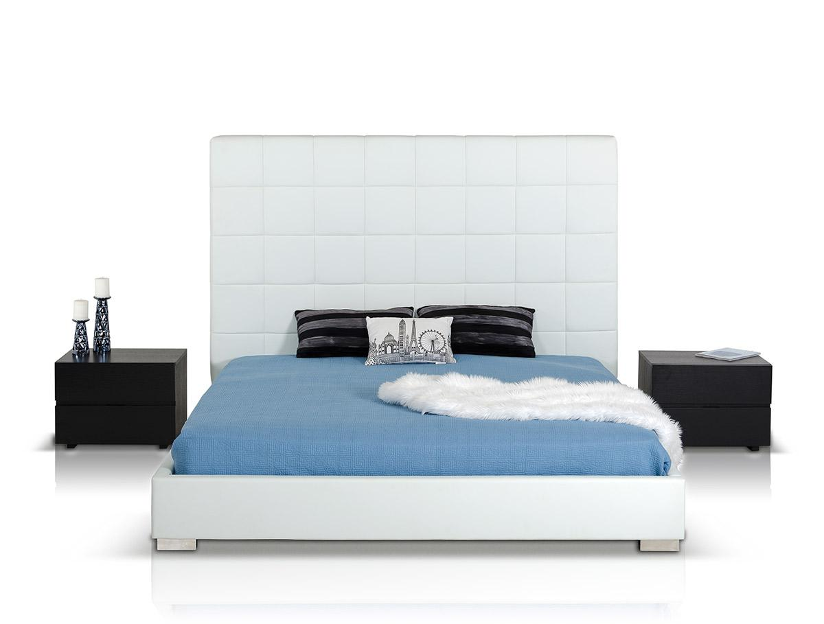Unique Leather Luxury Platform Bed With Optional Drawers