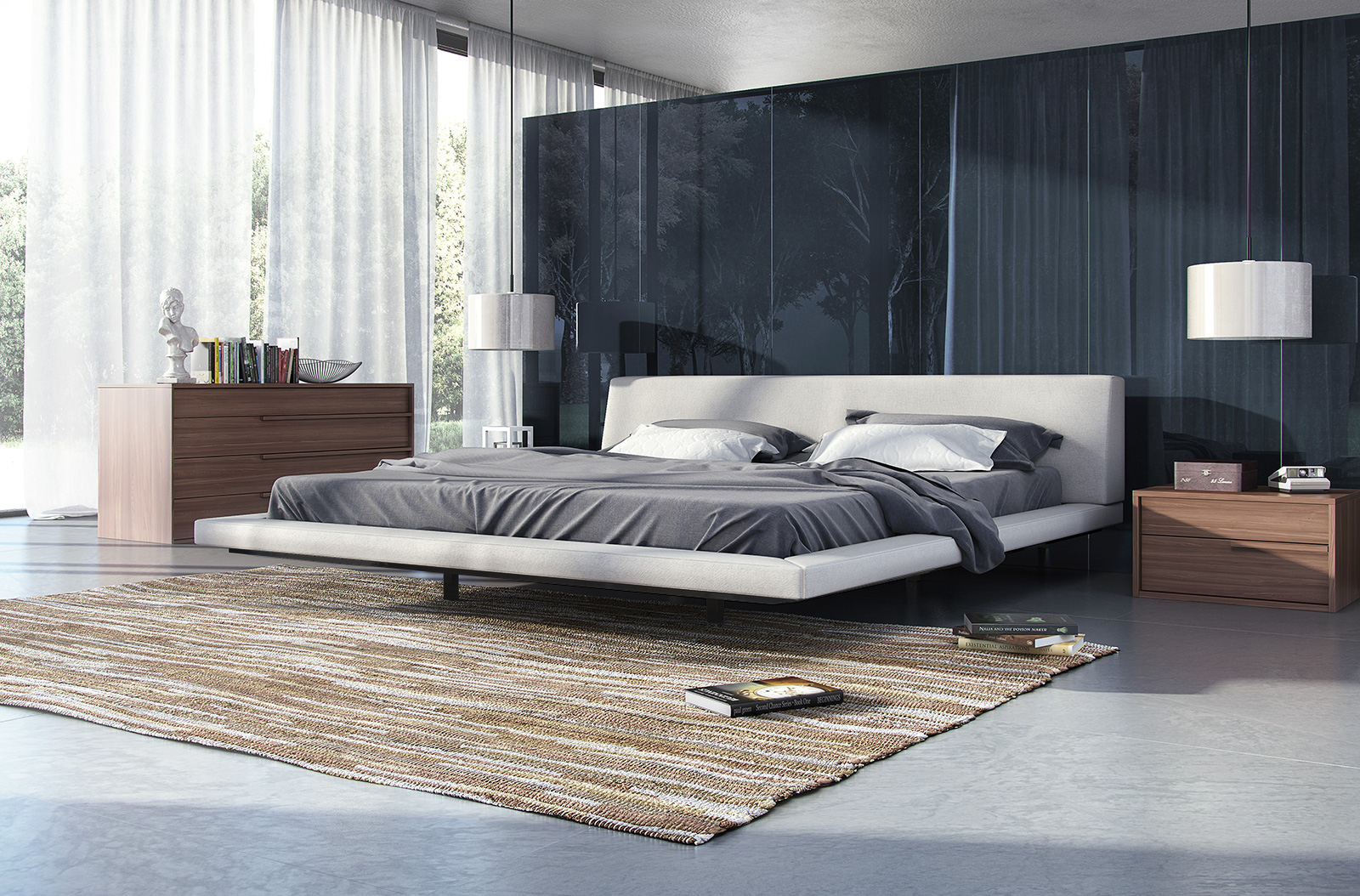 Fashionable Wood High End Platform Bed Fresno California Mljan