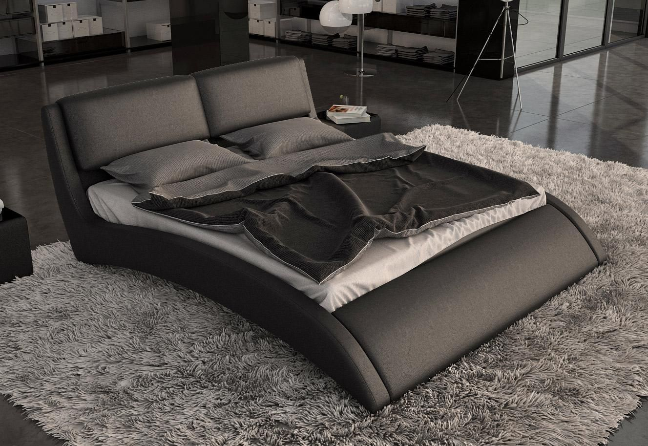 Home Decorating Pictures White Leather Platform Beds