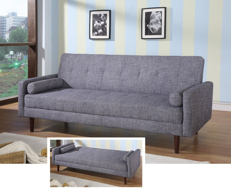 Contemporary Grey or Orange Fabric Sofa Sleeper Hardwood Frame Milwaukee Wisconsin AHKK18