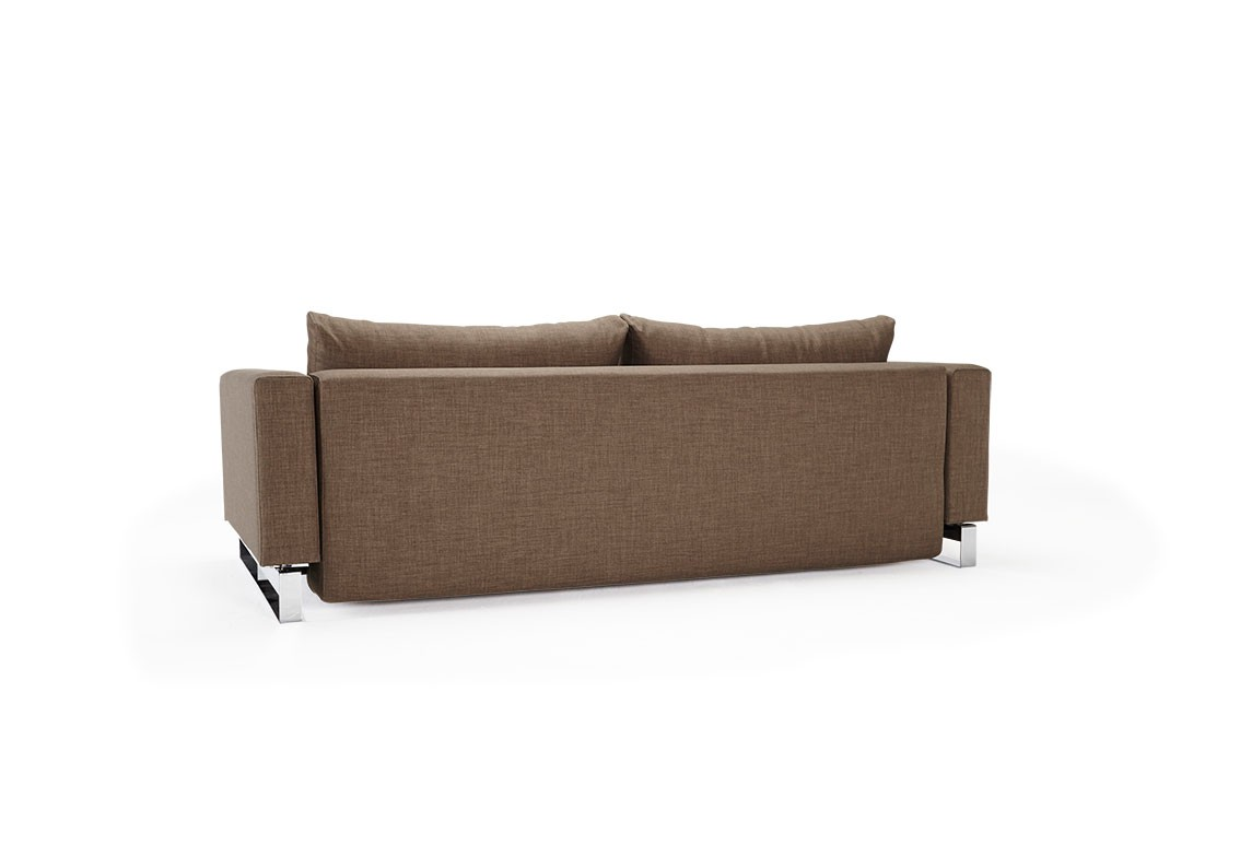 durable sofa bed cheltenham rattan corner and coffee table begum olive upholstered with chrome legs