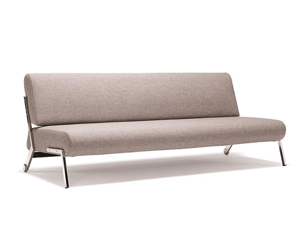 Contemporary Light Fabric Contemporary Sofa Bed with Chrome Legs Cincinnati Ohio INNDEB