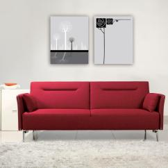 Contemporary Design Sofa Bed Top Rated Full Size Sleeper Superb Red Fabric Single Convertible
