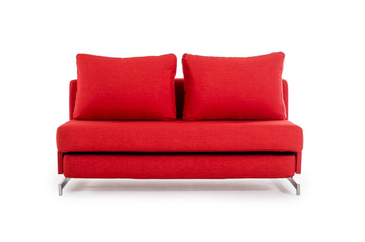 north carolina sofa beds doc convertible sleeper bunk bed contemporary red fabric with chrome legs