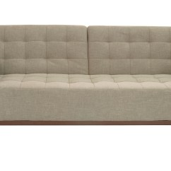 Contemporary Sofa Bed With Underneath Beige Or Grey Tufted Fabric Santa