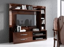 In Spain Walnut Protective Gloss Lacquer Wall Unit