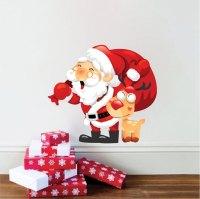 Santa Wall Decal - Rudolf Wall Decal - Santa Claus ...