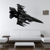 Fighter Jet Wall Decal - Plane Stickers - Primedecals