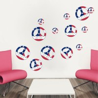 Peace Signs Wall Decal - Sixties Wall Decal Murals ...