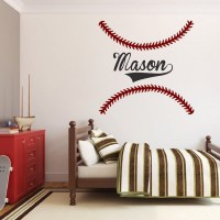 Baseball Stitch Wall Decals - Sports Wall Decal Murals ...