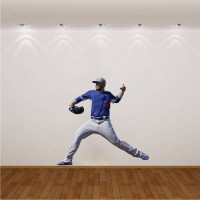 Baseball Player Wall Mural Decal - Sports Wall Decal ...