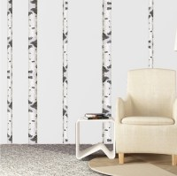 Birch Tree Wall Decal - Birch Tree Trunk Wallpaper Decal ...