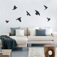 Birds Wallpaper Decal Sticker - Black Bird Decals - Bird ...