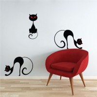 Black Cat Wall Decal - Halloween Stickers - Primedecals
