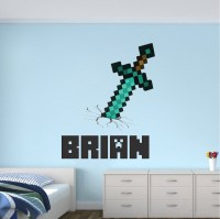 Boys Sword Personalized Name Wall Decal - Bedroom Design ...