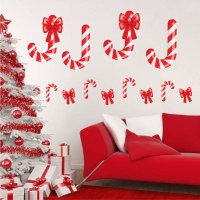 Candy Cane Wall Decals - Christmas Murals - Primedecals