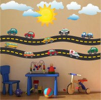 Race Car Decal - Sports Wall Decal Murals - Race Track ...