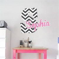 Monogram Wall Decal - Initial Stickers - Nursery and Kids ...