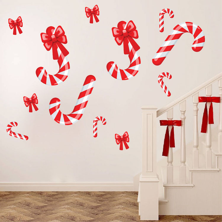 Candy Cane Wall Decals