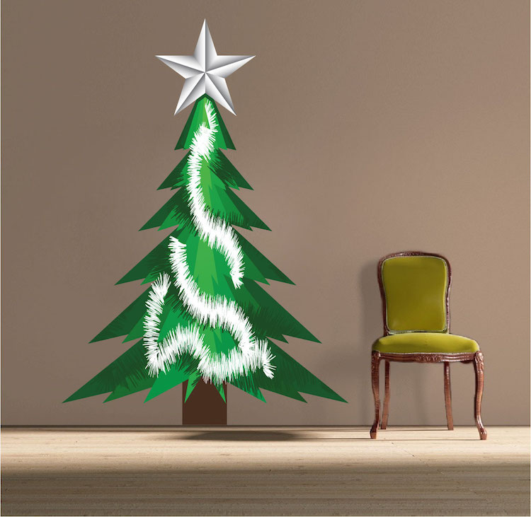 Christmas Tree Tinsel Wall Decal