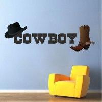 Cowboy Wall Decal - Wild West Stickers - Primedecals