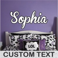Custom Bedroom Name Decal - Personalized Wall Stickers ...