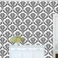 Damask Wallpaper Self Adhesive Decal _ Removable Damask ...