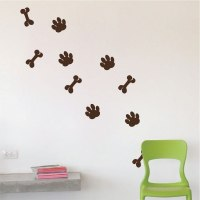 Dog Paws Wall Decal - Animal Wall Decal Murals - Primedecals