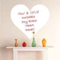 Heart Dry Erase Decals - Dry Erase Wall Decal Murals ...