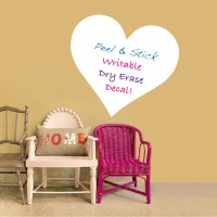 Heart Dry Erase Decals