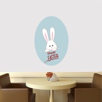 Easter Bunny Cling Decal - Happy Easter Living Room Wall ...