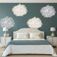 Bedroom Flower Wall Decals - Floral Wall Decal Murals ...