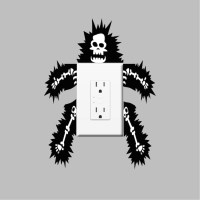 Funny Outlet or Light Switch Wall Decal Sticker