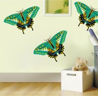 Green Butterfly Wall Decal - Animal Murals - Primedecals