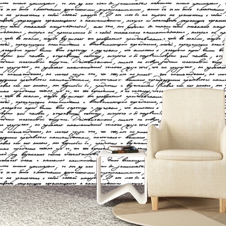 wallpaper living room wall navy blue and grey decor handwriting interior vinyl decal for bathroom bedroom or art primedecals
