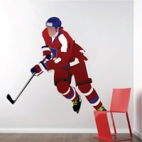 Hockey Player Wall Decal Mural - Sports Stickers - Primedecals