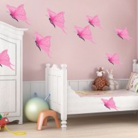 Pink Butterfly Wall Decals - Butterfly Wall Decal Murals ...