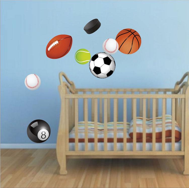 Sports Balls Wall Decal Murals