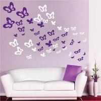 Bedroom Butterflies Wall Decals - Animal Wall Decal Murals ...