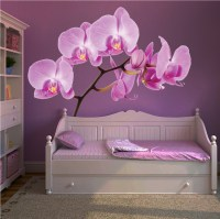 Orchid Wall Mural Decal - Beautiful Wall Decal Murals ...