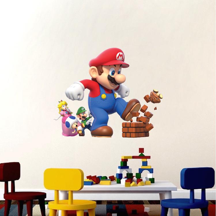 Super Mario Bro Bedroom Wall Decal _ Nintendo Game Room