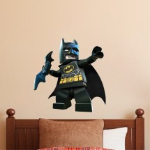 Lego Batman Wall Decal - Superhero Design Dark