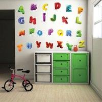 3D Alphabet Wall Decals - Nursery Wall Decal Murals ...