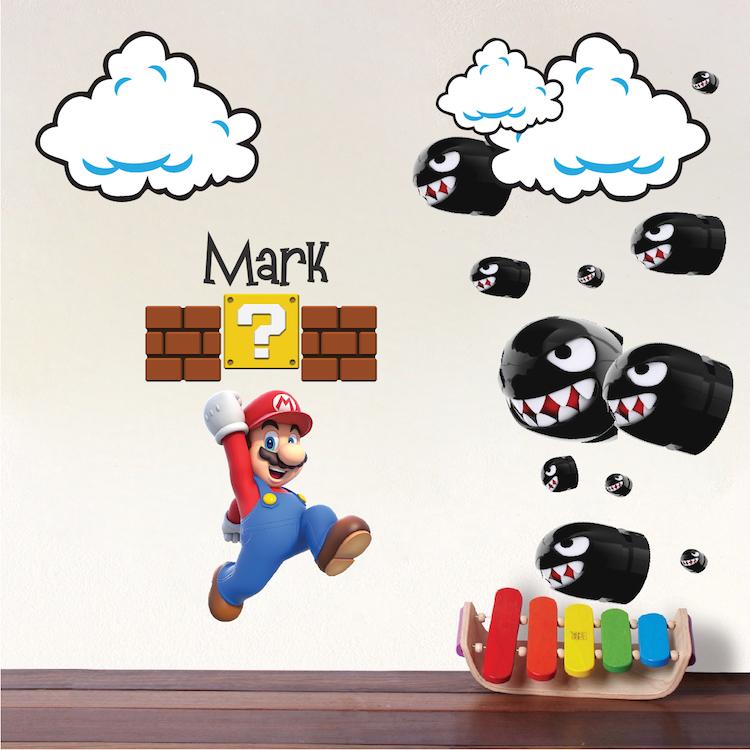 Mario Bullet Wall Decals _ Mario Nintendo Bullet Decals