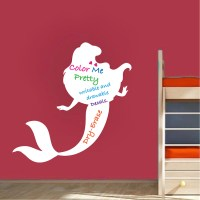 Mermaid Dry Erase Wall Decal - Dry Erase Wall Decal Murals ...