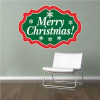 Merry Christmas Wall Decal - Christmas Murals - Primedecals