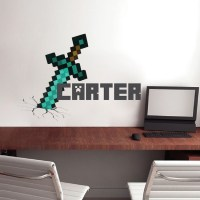 Boys Sword Personalized Name Wall Decal