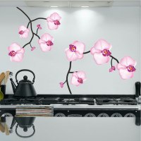 Pink Flower Wall Decal - Peel and Stick Branch Decals ...