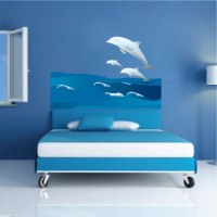 Dolphins and Waves Wall Decal - Animal Wall Decal Murals ...