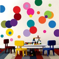 Colorful Dots Decal - Nursery Wall Decal Murals - Primedecals